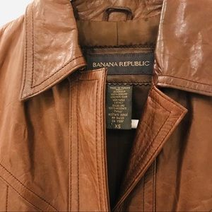 Delicious Chocolate Real Leather Jacket Vtg Banana